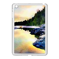 Stunning Nature Evening Apple Ipad Mini Case (white) by MoreColorsinLife