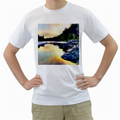 Stunning Nature Evening Men s T Shirt (white)  by MoreColorsinLife