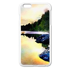 Stunning Nature Evening Apple iPhone 6 Plus Enamel White Case by MoreColorsinLife