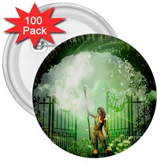The Gate In The Magical World 3  Buttons (100 Pack)  by FantasyWorld7