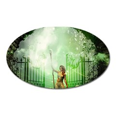 The Gate In The Magical World Oval Magnet by FantasyWorld7