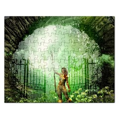 The Gate In The Magical World Rectangular Jigsaw Puzzl by FantasyWorld7