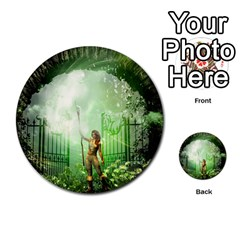 The Gate In The Magical World Multi Purpose Cards (round)