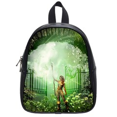 The Gate In The Magical World School Bags (Small)  by FantasyWorld7