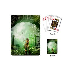 The Gate In The Magical World Playing Cards (mini)  by FantasyWorld7