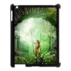 The Gate In The Magical World Apple iPad 3/4 Case (Black) by FantasyWorld7
