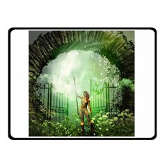 The Gate In The Magical World Double Sided Fleece Blanket (small)  by FantasyWorld7