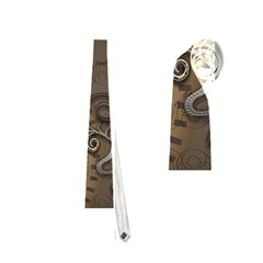 Steampunk, Golden Design With Clocks And Gears Neckties (two Side)
