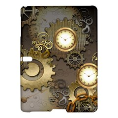 Steampunk, Golden Design With Clocks And Gears Samsung Galaxy Tab S (10 5 ) Hardshell Case  by FantasyWorld7