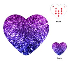 Midnight Glitter Playing Cards (Heart)