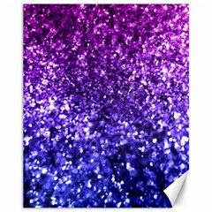 Midnight Glitter Canvas 11  x 14   by KirstenStar