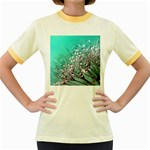 Dandelion 2015 0701 Women s Fitted Ringer T-Shirts