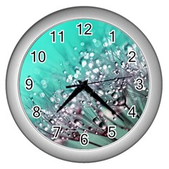 Dandelion 2015 0701 Wall Clocks (silver)  by JAMFoto