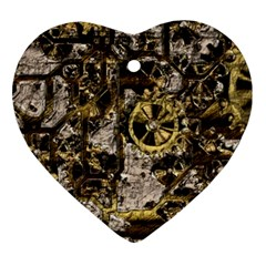 Metal Steampunk  Ornament (heart)  by MoreColorsinLife