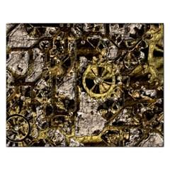 Metal Steampunk  Rectangular Jigsaw Puzzl by MoreColorsinLife