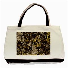 Metal Steampunk  Basic Tote Bag  by MoreColorsinLife