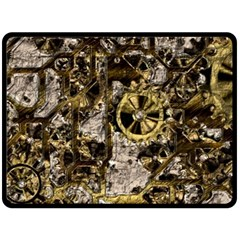 Metal Steampunk  Double Sided Fleece Blanket (large)  by MoreColorsinLife