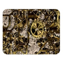 Metal Steampunk  Double Sided Flano Blanket (large)  by MoreColorsinLife