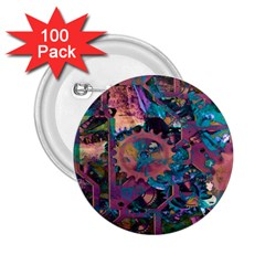 Steampunk Abstract 2.25  Buttons (100 pack)  by MoreColorsinLife