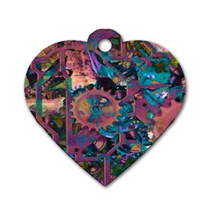 Steampunk Abstract Dog Tag Heart (one Side)