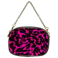Extreme Pink Cheetah Abstract  Chain Purses (one Side)