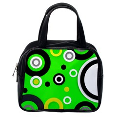 Florescent Green Yellow Abstract  Classic Handbags (one Side)