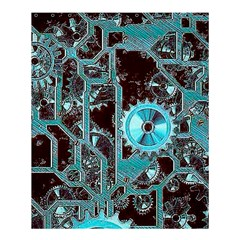 Steampunk Gears Turquoise Shower Curtain 60  X 72  (medium)  by MoreColorsinLife