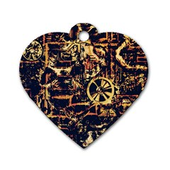 Steampunk 4 Dog Tag Heart (Two Sides) by MoreColorsinLife