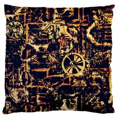 Steampunk 4 Standard Flano Cushion Cases (One Side)  by MoreColorsinLife