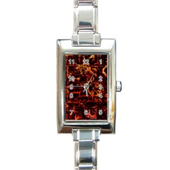 Steampunk 4 Terra Rectangle Italian Charm Watches by MoreColorsinLife
