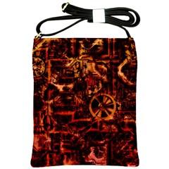 Steampunk 4 Terra Shoulder Sling Bags by MoreColorsinLife
