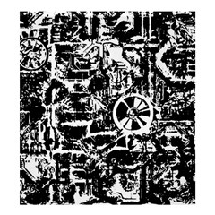 Steampunk Bw Shower Curtain 66  X 72  (large)  by MoreColorsinLife