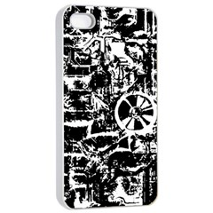 Steampunk Bw Apple Iphone 4/4s Seamless Case (white) by MoreColorsinLife