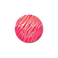 Florescent Pink Zebra Pattern  Golf Ball Marker (10 Pack) by OCDesignss