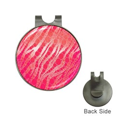 Florescent Pink Zebra Pattern  Hat Clips With Golf Markers by OCDesignss