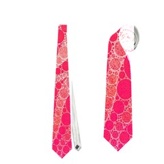 Florescent Pink Zebra Pattern  Neckties (one Side)