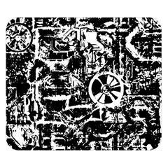 Steampunk Bw Double Sided Flano Blanket (small)  by MoreColorsinLife