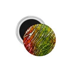 Orange Green Zebra Bling Pattern  1 75  Magnets by OCDesignss