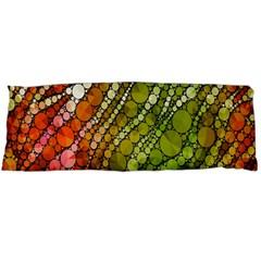 Orange Green Zebra Bling Pattern  Body Pillow Cases (dakimakura)  by OCDesignss