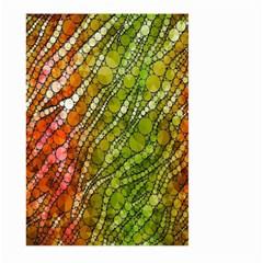 Orange Green Zebra Bling Pattern  Large Garden Flag (two Sides) by OCDesignss