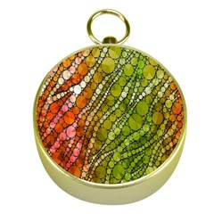 Orange Green Zebra Bling Pattern  Gold Compasses by OCDesignss