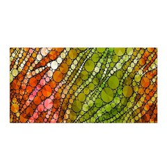Orange Green Zebra Bling Pattern  Satin Wrap by OCDesignss