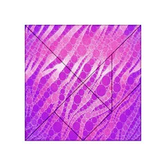 Florescent Pink Zebra Pattern  Acrylic Tangram Puzzle (4  X 4 ) by OCDesignss