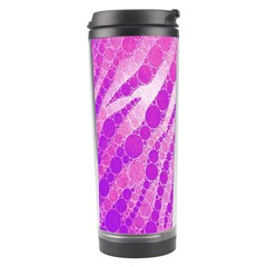 Florescent Pink Zebra Pattern  Travel Tumblers by OCDesignss