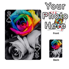 Blach,white Splash Roses Playing Cards 54 Designs  by MoreColorsinLife