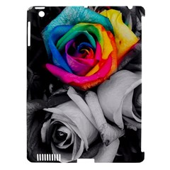 Blach,white Splash Roses Apple Ipad 3/4 Hardshell Case (compatible With Smart Cover) by MoreColorsinLife