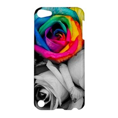 Blach,white Splash Roses Apple Ipod Touch 5 Hardshell Case