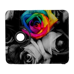 Blach,white Splash Roses Samsung Galaxy S  Iii Flip 360 Case by MoreColorsinLife