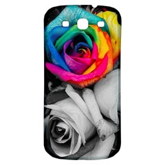 Blach,white Splash Roses Samsung Galaxy S3 S Iii Classic Hardshell Back Case