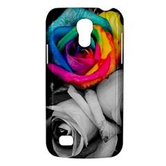 Blach,white Splash Roses Galaxy S4 Mini